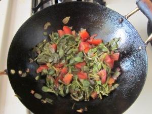 Add chopped tomatoes...